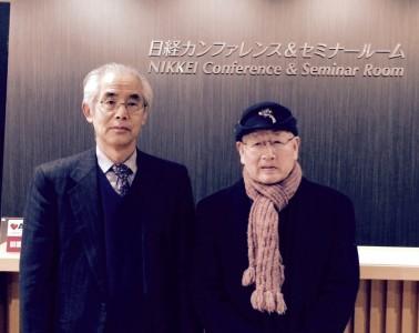 左:報告者(久保)と右:堀池喜一郎さん(NPOシニアSOHO普及サロン三鷹・顧問